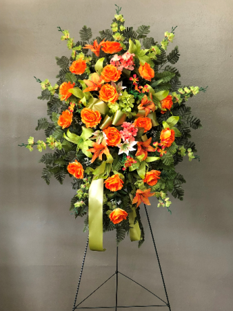 Silk Orange And Green Spray In Gulfport Ms Forget Me Not Florist