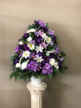 Silk Purple and White Basket