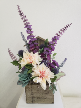 (SILK) Purple dreams Silk flower arrangement