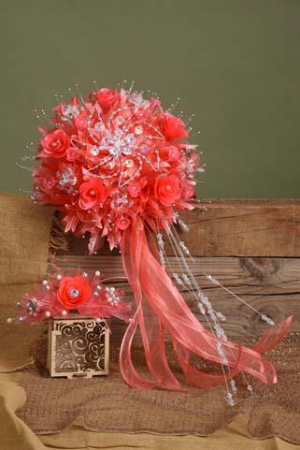 Silk Quinceanera  Bouquet and Corsage Quinceanera Bouquet and Corsage