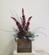 (SILK) Raspberry Passion Silk flower arrangement