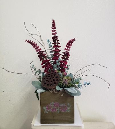 (SILK) Raspberry Passion Silk flower arrangement