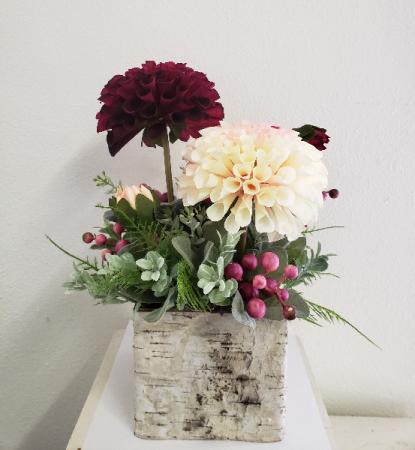 (SILK) Raspberry Ripple Silk flower arrangement