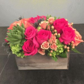 SILK ROSES FLORAL ELEGANT MIXTURE OF FLOWERS