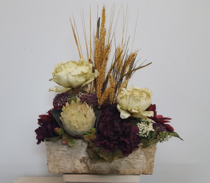 (SILK) rustic garden Silk flower arrangement