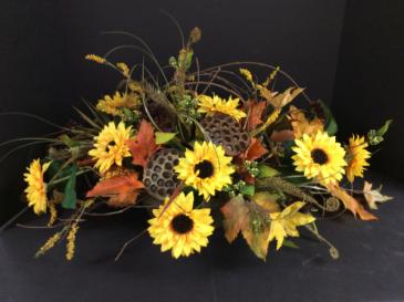 Silk Rustic Sunflower Centerpiece Arrangement