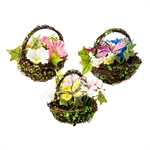 Silk Spring Mini Basket  Giftware
