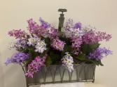 (SILK) Sprouting Violets Silk Arrangement