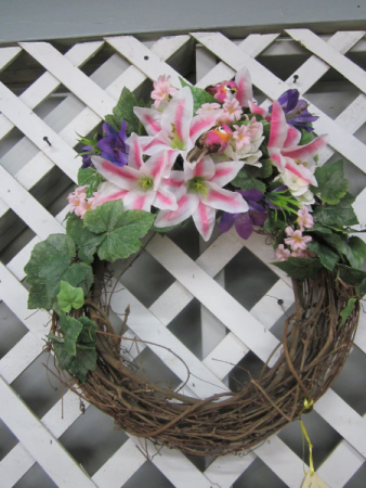 Silk Stargazer Spring Bird Wreath
