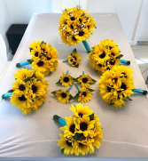 SILK SUNFLOWERS COMBINATION WEDDING