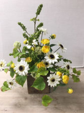 Silk Sunshine Delight Arrangement