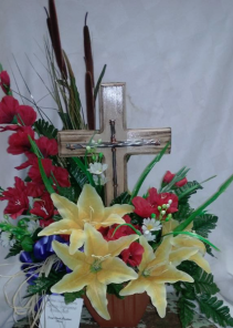 Silk Sympathy Arrangement with Cross Sympathy Arrangement