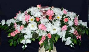 Silk Sympathy Casket Sprays Funeral Flowers in Fork Union, VA | Scarlett's Flowers & Gift Basket