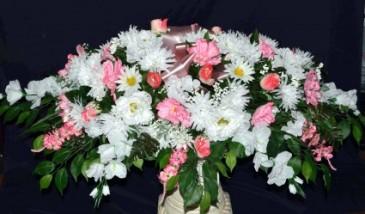 Silk Sympathy Casket Sprays Funeral Flowers