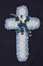 Silk Sympathy Cross - Large Funeral Flowers