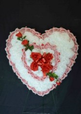 Silk Sympathy Heart - Large Funeral Flowers
