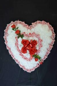 Silk Sympathy Heart - Large Funeral Flowers