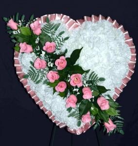 Silk Sympathy Heart - Medium Funeral Flowers