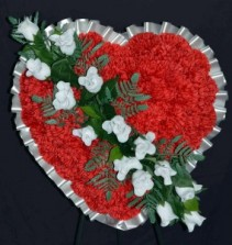 Silk Sympathy Heart - Small Funeral Flowers