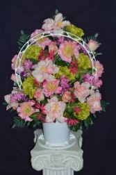 Silk Sympathy Mixed Baskets Funeral Flowers