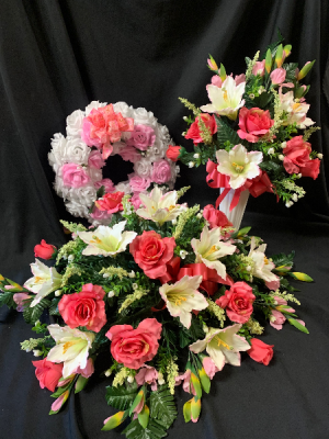 Silk Sympathy Pink Tribute Set in Red Lake, ON | FOREVER GREEN GIFT BOUTIQUE