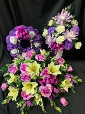 Silk Sympathy Purple Tribute Set