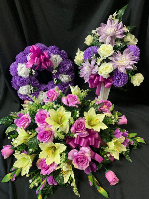 Silk Sympathy Purple Tribute Set in Red Lake, ON | FOREVER GREEN GIFT BOUTIQUE
