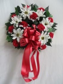 Silk Sympathy Wreath Silk Arrangement