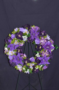 Silk Sympathy Wreaths Funeral Flowers