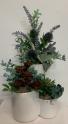 (SILK) trio succulents  Silk Arrangement