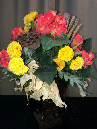 Silk Vase-Fall Silk Arrangements
