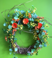 Silk Wall Wreath Silk Wreath