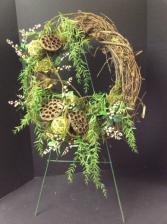 Silk Wreath Rustic Arrangement