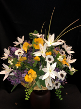 SilkTable Basket Silk Arrangements