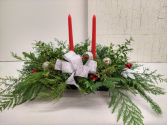 Silver and Gold Long Green Centerpiece