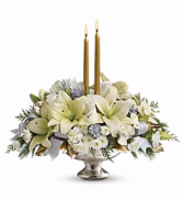 Silver and Gold Silver Bowl Centerpiece