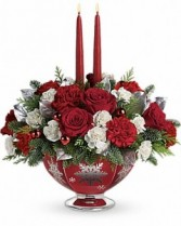 Silver and Joy Christmas Centerpiece