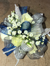 Silver and Royal Blue prom