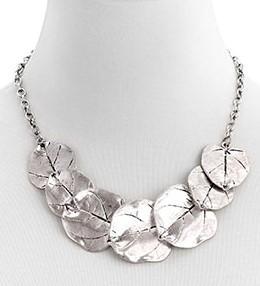 Silver Aspen Leaf Necklace