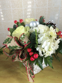 Silver Bells Centerpiece