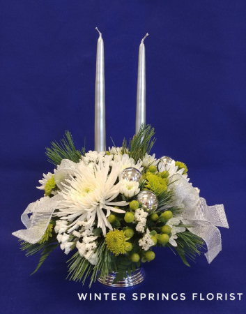 Silver Bells  Holiday Centerpiece