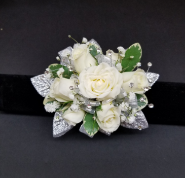 Silver Bling Corsage