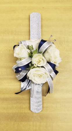 Silver Bling Wristlet Corsage in Croton On Hudson, NY | Cooke's Little Shoppe Of Flowers