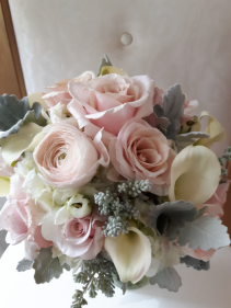 Silver Blush  Hand-tied Bridal Bouquet