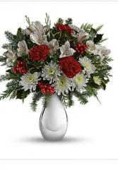 Silver Bouquet Keepsake mercury glass