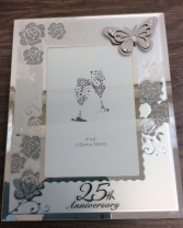 Silver Butterfly Anniversary  25 th Anniversary Giftware