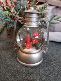Silver Cardinal Water Lantern