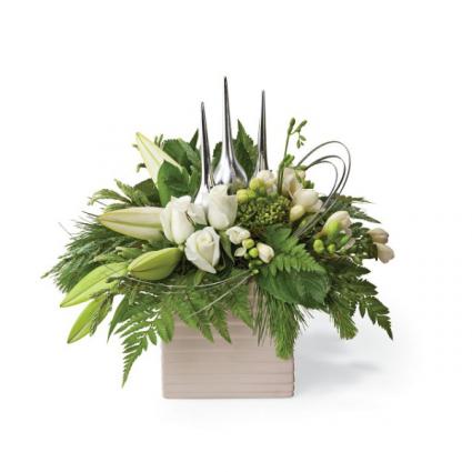Silver Chic  Flower Arrangement