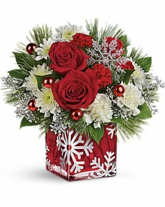 SILVER CHRISTMAS BOUQUET  in Canon City, CO | TOUCH OF LOVE FLORIST AND WEDDINGS