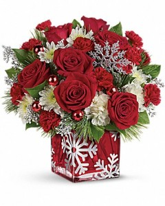 Silver Christmas Bouquet Teleflora in Springfield, IL | FLOWERS BY MARY LOU INC